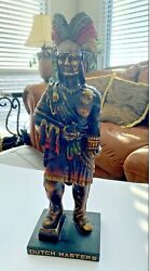Genuine Dutch Masters Cigar Store Indian Statue 19 Vintage Collectible Rare Nos