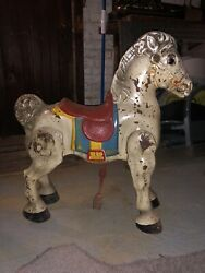 Vintage Antique Mobo Horse Child's Metal Ride On Toy D Sebel And Co England