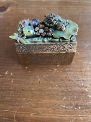 Kirks Folly Turtle And Dragonfly Trinket Box