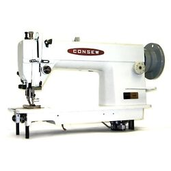 Consew 205rb Industrial Walking Foot Sewing Machine W/ 3/4hp Servo Mtr And Table
