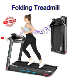 3hp Folding Treadmill Electric Cardio Running Machine With 7 Color Led Lights