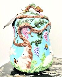 Christipher Radko Fern Meadow Cookie Jar Spring And Easter Decor New In Box