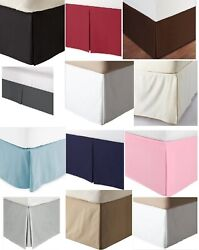 Solid Open Corner Tailored Bed Skirt 660 Tc Cotton King Queen Bed Sizes New