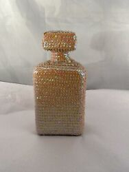 Glass Sequin Bottle And Topper