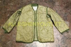 Us Army Military M-65 Field Jacket Quilted Coat Liner Od Green Size Small Exc