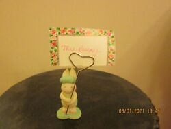 Set Of 5 Hallmark Easter Bunny Place Card Holders New No Box