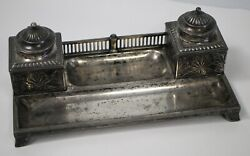 Rare Inkwell By Orivit Ag In Germany - Empire Style 1894-1905 - Must See