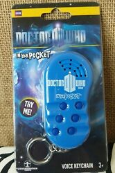 Doctor Who Talking Voice Keychain Key Fob In Your Pocket W/6 Sound Effects
