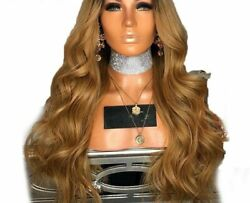 Lace Front Wigs For Ladies Pre Plucked Ombre Honey Wavy Remy Hair Peruvian Style