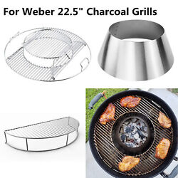 Grill Charcoal Holder Cooking Grate Warming Rack For 22.5 Weber Charcoal Grills