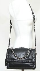 MARC JACOBS Bag Crossbody THE PILLOW Black Leather Chain Strap Flap $500.00
