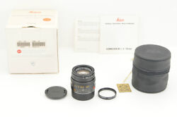 Mint In Box Leica Summicron M 50mm F/2 E39 11826 From Japan 5589