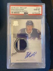 2016-17 The Cup Rookie Auto Patch Rpa - Brayden Point - Rc - Psa 10