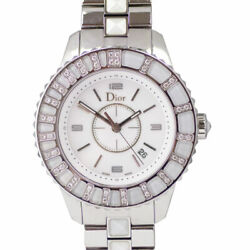 Christian Dior Cd113112 Christal Quartz And Stainless Steel Ladies Watch