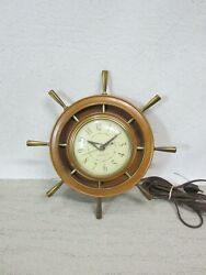 General Electric Wall Clock 2h67 Mid Century Ge Vintage Usa Made