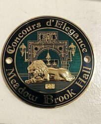 Concours D'elegance Meadow Brook Hall Car Badge