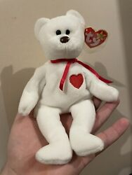 Valentino Beanie Baby Very Rare. Brown Nose, Multiple Tag Errors, And Pvc Pellet