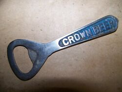 Rare Vintage Crown Beer Bottle Opener Breweriana Collectible Old