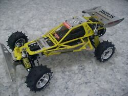 Vintage Kyosho Javelin/optima 4wd / Alloy Bumper / Rare Yellow Cage