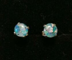 Genuine Opal Stud Earrings With Certificate Valentines Day Sale