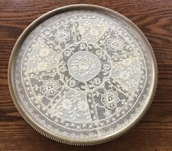 """Antique French Bronze Lace Dresser Vanity Tray 10"""" Excellent"""
