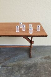 Dollhouse Miniature Jars Small for Spices or Baby Food with Lids x6 1:12 Scale $8.00