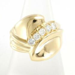 Jewelry 18k Yellow Gold Ring 12 Size Diamond 0.405 About8.2g Free Shipping Used