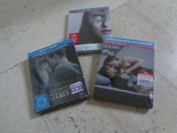 Fifty Shades Of Grey Trilogy 3 Blu-ray Steelbook Set New And Sealed Jamie Dornan