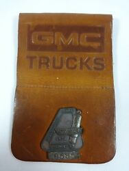 1975 Indianapolis 500 Silver Pit Badge And Gmc Trucks Credential Holder B Unser
