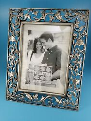 """Sixtrees Pewter Picture Photo Frame Fits 5""""x7"""" Photo Collectible Decor"""