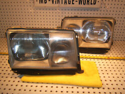 Mercedes W124 86-93 Euro Type Headlight Bosch R And L Halogen 2 Assemblyand039sgermany
