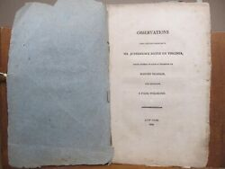 Observations Upon Certain Passages In Mr Jefferson's Notes On Virginia 1804