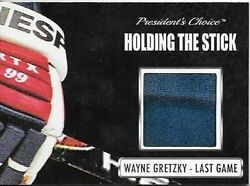 Wayne Gretzky Presidentand039s Choice Holding The Stick Card From Last Nhl Game 9/9