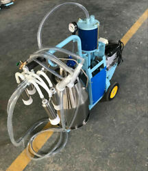 Piston Milker Electric Stainless Steel Bucket Cows Goats Farm Machine Us Tool
