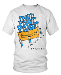 Pivot Trying To Bring The Couch Upstair Funny Gift Unisex T Shirt S-5xl White