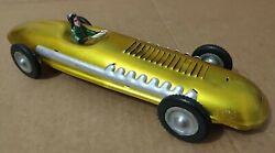 Vintage Russian Ussr Metal Tin Friction Race Car Toy.rare Man Collection