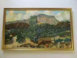 Antique Roland Mcnary Oil Painting Early Old California  Landscape Plein Air