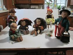 Hummel Doll Set Of Six Vintage Complete Set Beautiful Collection Rare