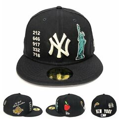 New York Yankees Local Market Pack Side Patch New Era 59fifty Fitted Hat Cap