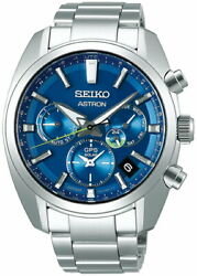 Seiko Astron 5x Dual Time Japan Collection 2020 Sbxc055 Menand039s Watch Gps Blue New