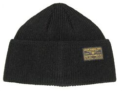 Polo Menand039s Wool Beanie Hat Vintage Military Watch Cap Skull Black