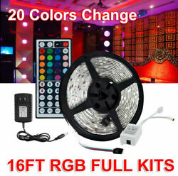 16ft Rgb 5050 Waterproof Led Strip Room Tape Lights 20 Color Changing Party Lamp