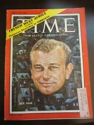 Time Magazine August 1958 Jack Paar French West Africa C
