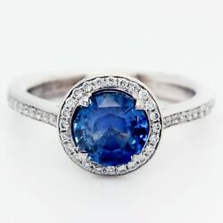 18k Gold Cocktail Sapphire In Ajaffe Mounting