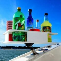 The Docktail Boat Table Caddy With All Angle Adjustable Rod Holder Mount
