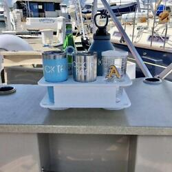 Docktail Jr Boat Cup Holder Caddy With Two 4.5 Seasucker Suction Mounts
