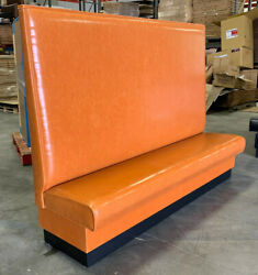Commercial Restaurant Wall Bench In Plain Back Style In 60 High Back