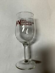 Hill Farmstead Brewery Craft Beer Tasing Glass Red Logo Rare