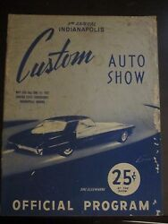 1952 3rd Annual Indianapolis Custom Auto Show Official Program Aa