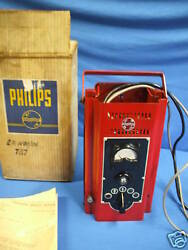 1950and039s Antique Philips Multi Tester Fault Finder Engine Analyser Original Box